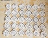 Lovely rectangular vintage pft State crochet doily