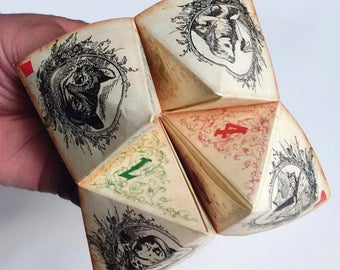 Alice in wonderland inspired Origami Fortune Teller . cootie catcher . game . DIY toy . printable Instant DOWNLOAD. Paper Crafting . Quotes