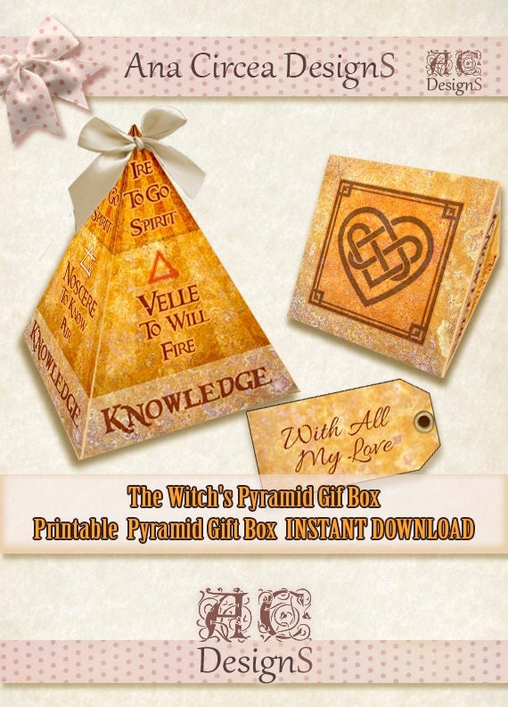 photo relating to Printable Pyramid named The Witchs Pyramid Gif Box . Printable. Quick electronic Obtain. Do-it-yourself . Chirstmas. Yule . Desire. papercraft. Label. wicca. Magic. Solstice