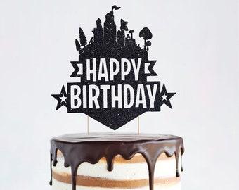 Fortnite Happy Birthday Cake Topper Personalized Birthday ...