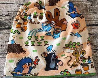 "Turn Beanie Hat ""The Little Mole - Garden Party Beige"""