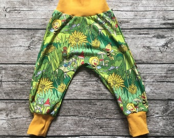 """Pump pants """"Maja and friends in the flower field"""" size 62-116"""