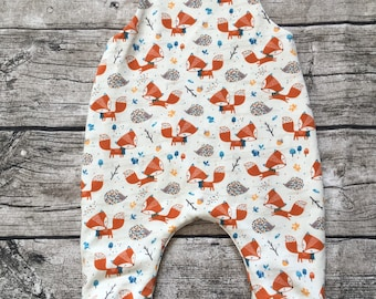 """Lined romper """"Fox and Hedgehog"""" Size 50-80"""
