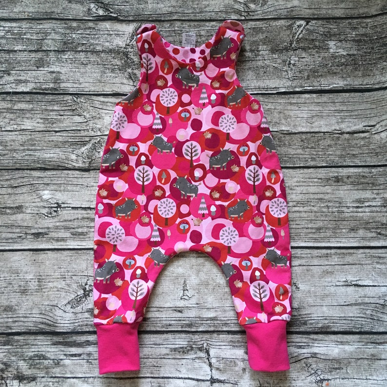 Lined baby romper