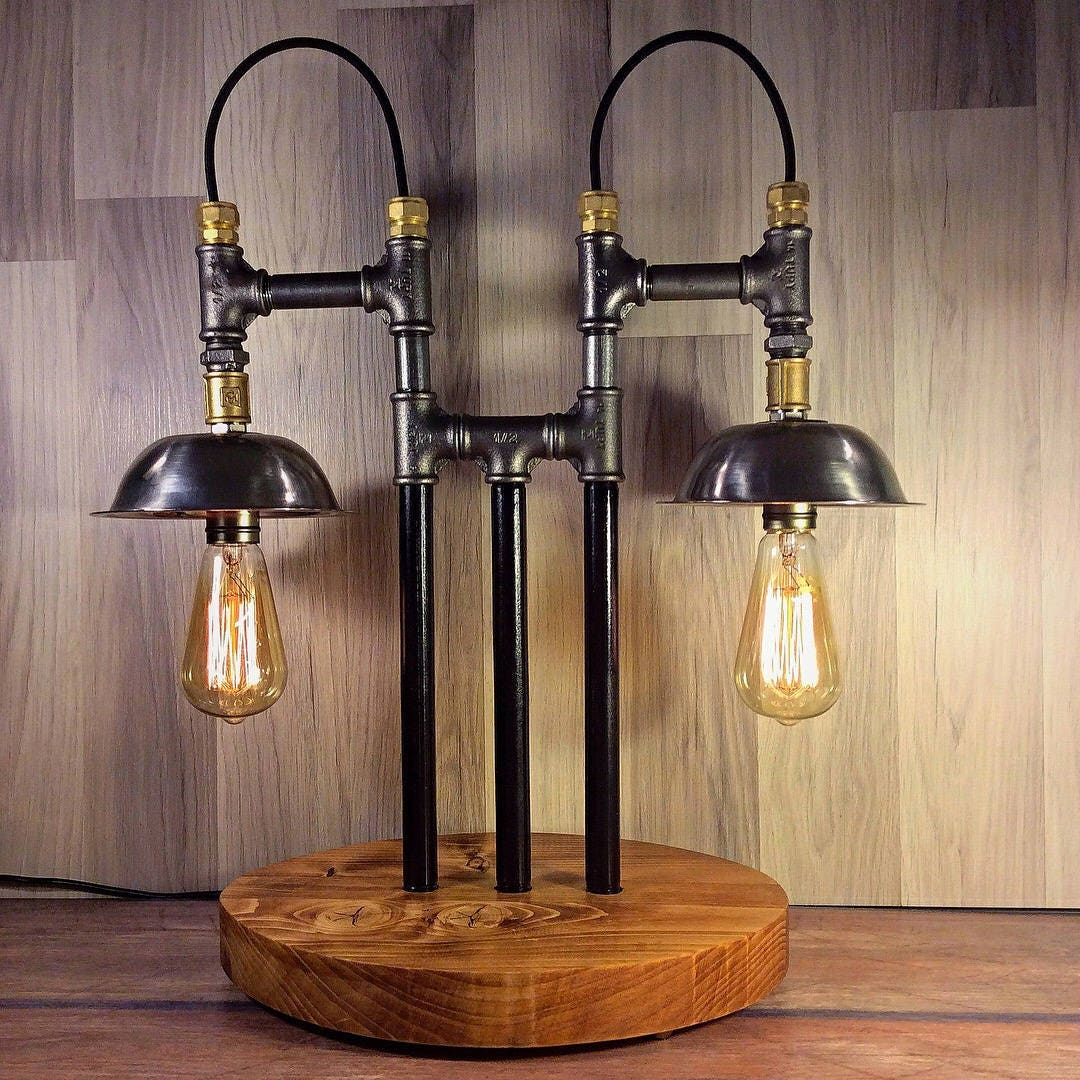 Unique Table Lamp Steampunk Lamp Industrial Lamp Desk