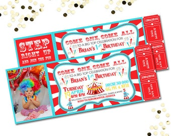 Carnival Invite Etsy