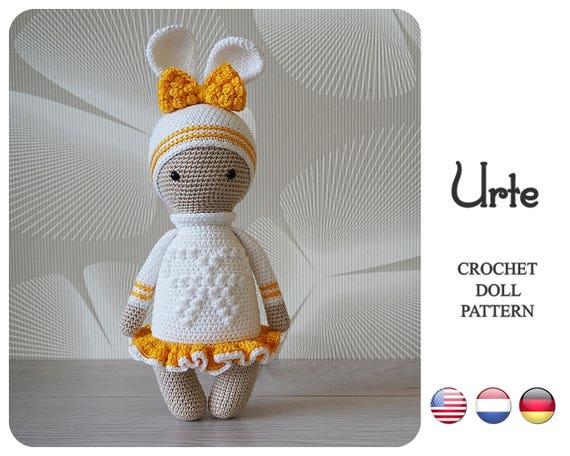 Crochet Bunny Pattern Urte By Zyzu Line Design Amigurumi Etsy