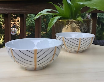 Golden Leaf Bowls