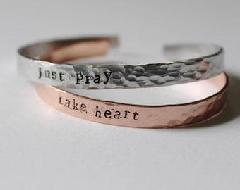 Metal Stamped Cuff Bracelet