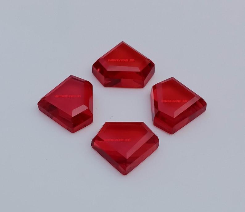 Garnet Quartz 13X11 mm Diamond Shape 10 Pcs Top Tablet Cut Flat Bottom Tablet Cut Fancy Kite Handmade Red Garnet Quartz Gemstone Kite Shape