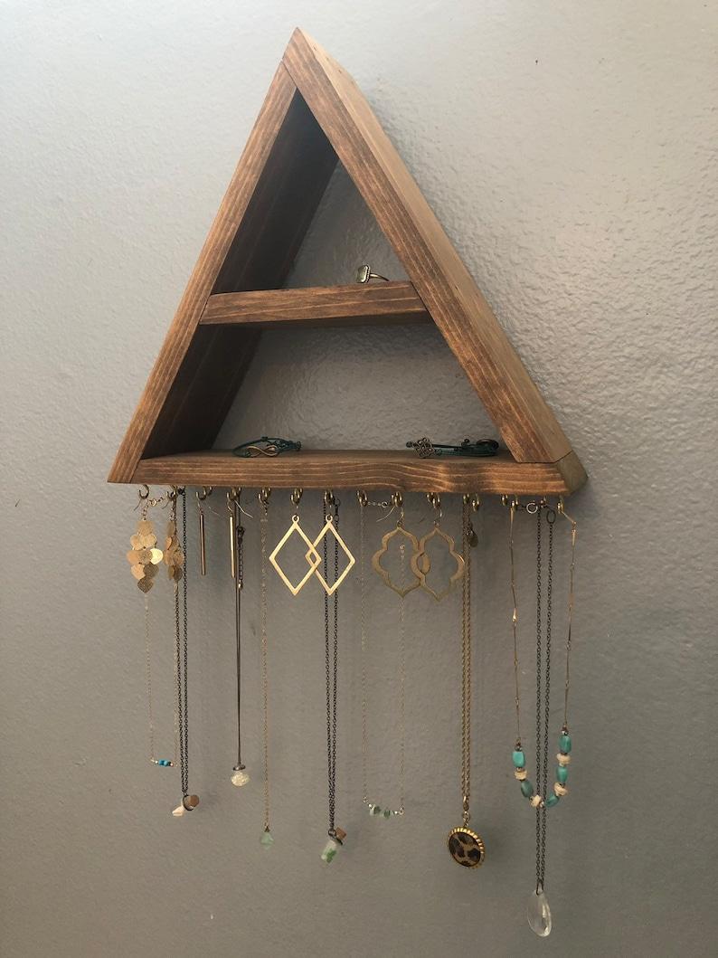 Triangle Jewelry Holder Jewelry Star Arrow earrings vintage brass dangling arrow earrings. triangle jewelry holder jewelry star