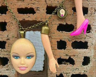 Barbie Statement Collier Upcycling
