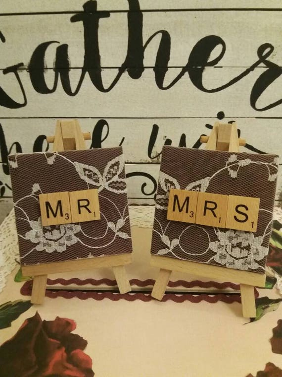 Personalised Wedding Place Name Holders Mr And Mrs Table Etsy
