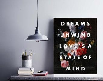 RHIANNON Song Print, Fleetwood Mac Inspired Art, Moody Floral, Floral Art, Dark Floral, 11x14 Art Print, Gallery Wall Art, Art Gift