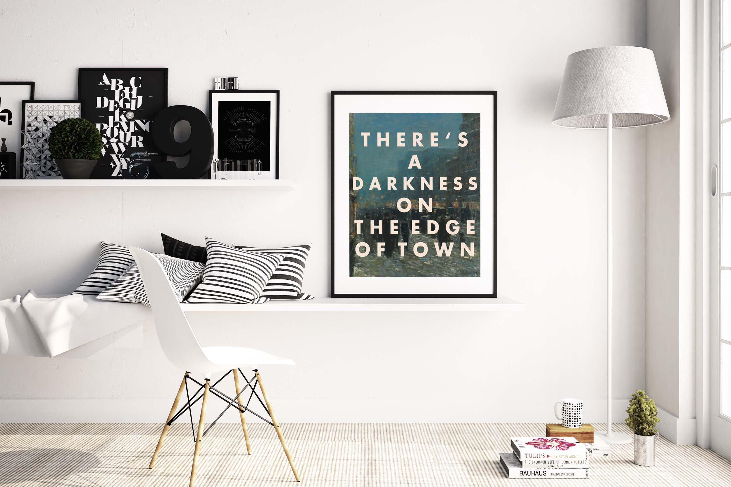 BRUCE SPRINGSTEEN Print, Wall Art Print, Song Lyric, 8x10 Print, Rock, Darkness on the Edge of Town, Home Decor, Bedroom Art, Vintage Style