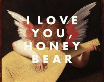 Father John Misty Art Print, Song Lyrics, I Love You Honeybear, Indie Band, Alternative, Vintage Style, Fine Art Poster, Music Print, 16x20