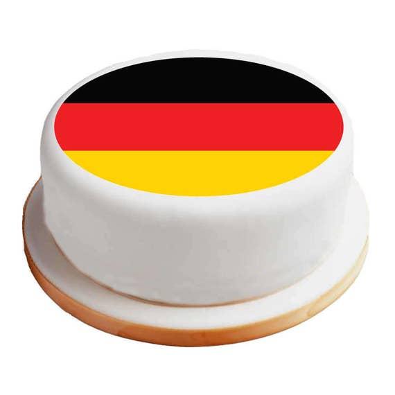 Deutsch Deutschland Flagge 8 Pre Cut Runde Kuchen Etsy