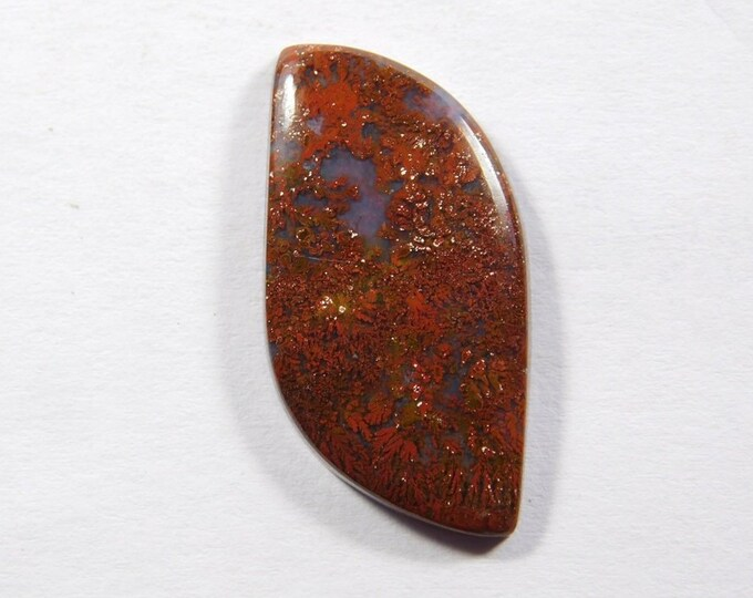 Moss Agate Cabochon Top Handmade Hungarian Moss Agate loose stone for Pendant 15 Cts.D-3942 Very Nice Natural Red Moss Agate gemstone