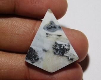 Unique Maligano Jasper Gemstone 40X27X6 mm Pear Shape Natural Maligano Jasper Cabohon Silver Jewelry Gemstone