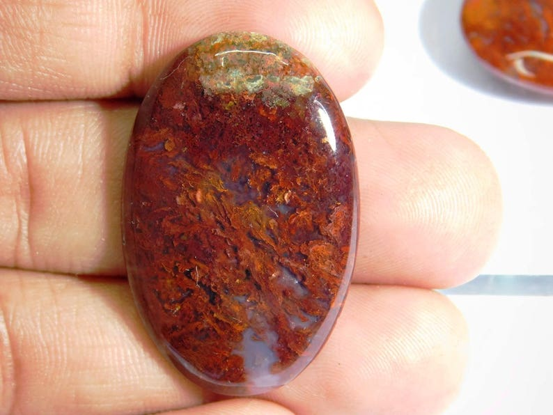 Red Moss Agate Cabochon Red Moss Well Handmade Red Moss Agate loose gemstone Natural Hungarian Agate gemstone Beautiful! 30 Cts.D-972