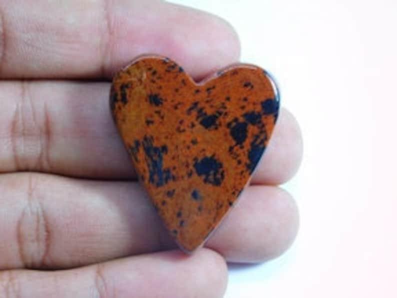 Amazing Natural Mahogany Obsidian Cabochon 61 Cts Semi Precious Stone For Jewelry D-7846 AAA Quality Mahogany Obsidian Loose Gemstone
