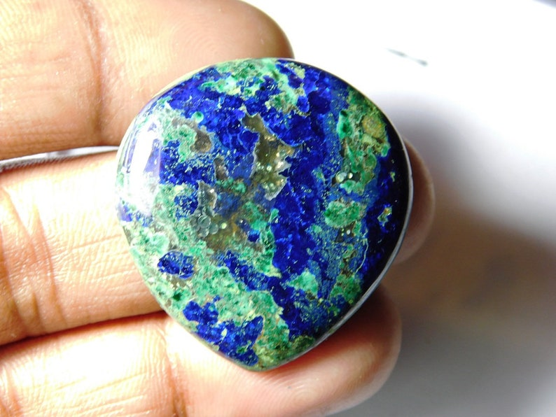 100/% Natural Blue Azurite gemstone cabochon Low Price Blue Azurite loose gemstone Top Beautiful Blue Azurite for jewellery 53 Cts D-2246