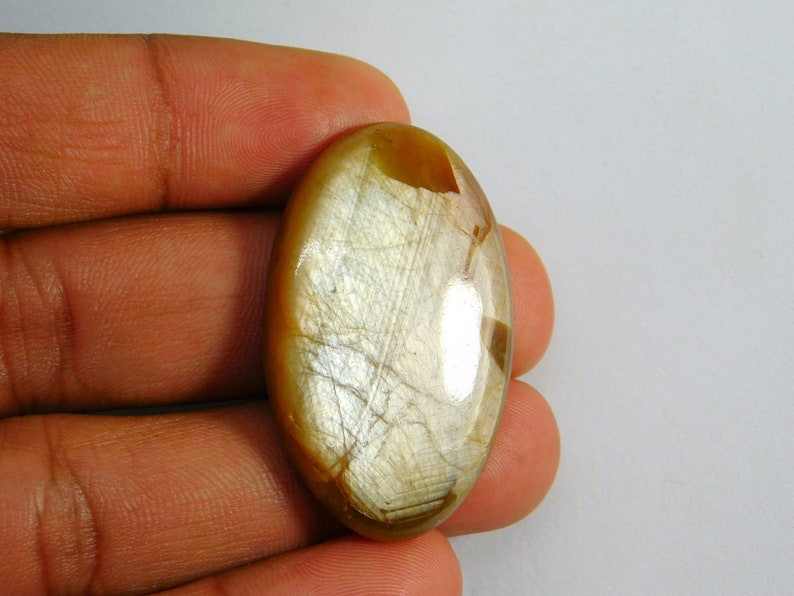 Natural Sapphire Gemstone Gold Sapphire Cabochon D-8492 Amazing! Top Quality Sapphire Hand Made Loose Stone For Jewelry Making 98 Cts