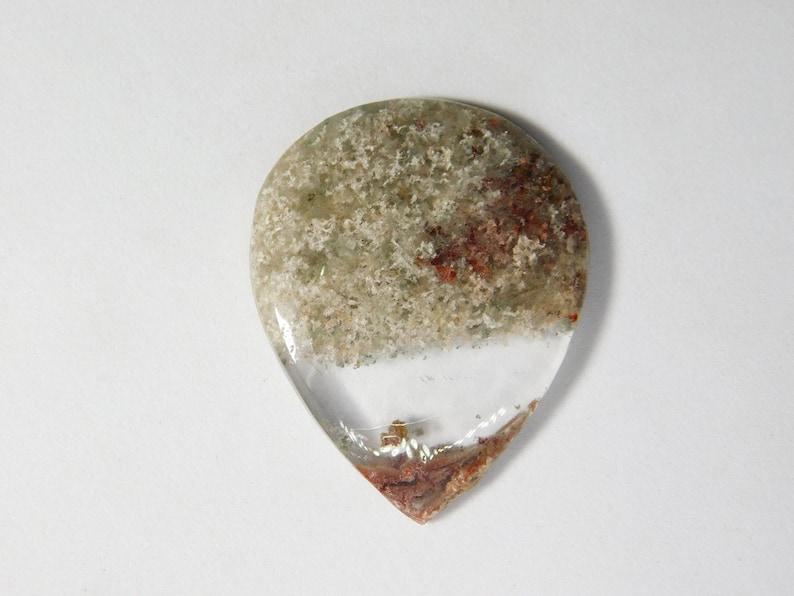 Top Quality! semi Precious Lodolite Gemstone for Making Jewelry 46 Cts Garden Quartz Loose Gemstone Natural  Lodolite Cabochon D-8612