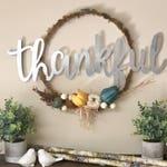 THANKFUL Fall Hoop Wreath