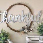THANKFUL Hoop Wreath- All Year Round!