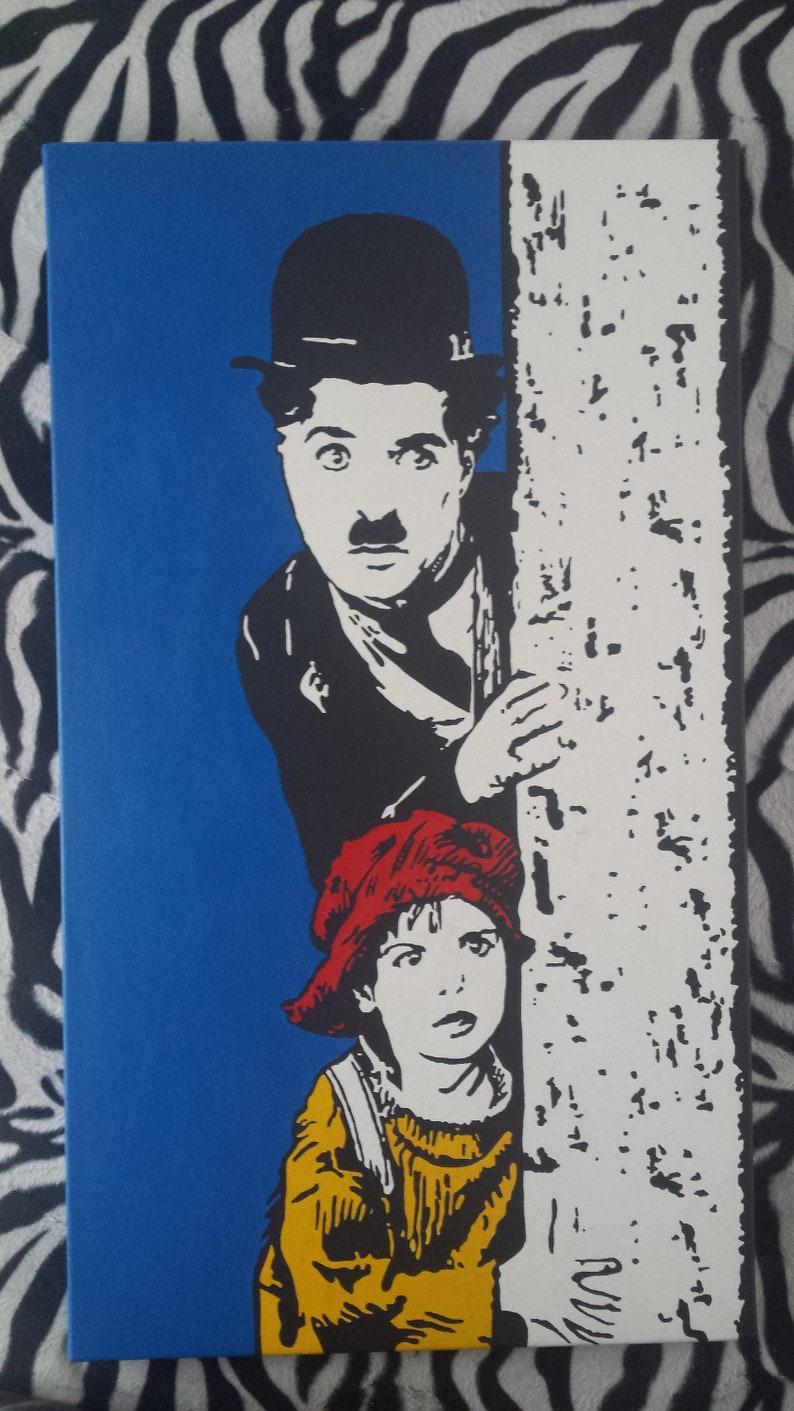 112a99ed64c70 CHARLIE CHAPLIN The KidCOMICS-painting Modern art