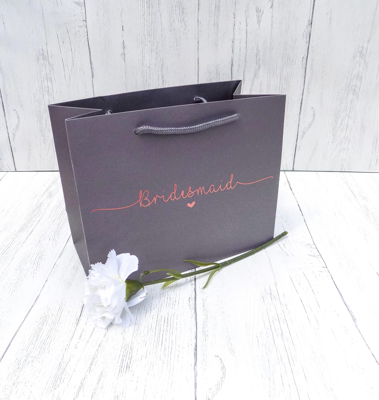 795df93df0f Rose Gold Bridesmaid Gift Bags
