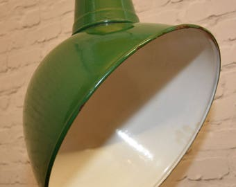 2 available 1960s Benjamin industrial pendant lamps light enamel antique vintage pendant metal factory old restaurant cafe
