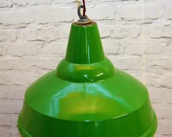 1950s R.E.A.L industrial pendant lamps light enamel antique vintage pendant metal factory old restaurant cafe