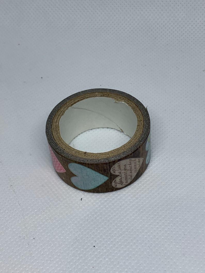 Hearts Washi Tape Adhesive Red Washi Tape Decorative Tape Gray and Pink Washi Tape