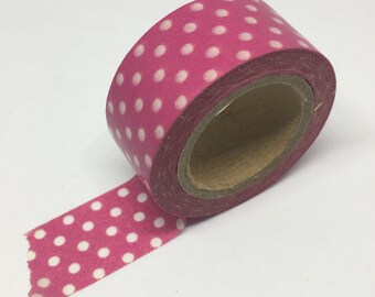 Washi Tape - Red and White Polka Dot Washi Tape - Decorative Tape - Adhesive