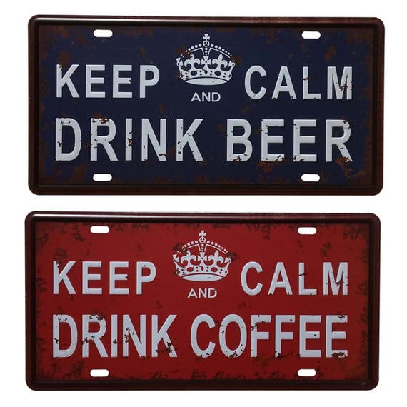 keep calm drink beer metal tin sign poster metal wall decor