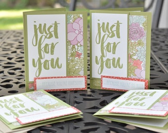 Just For You Blank Inside Card (Set of 4)
