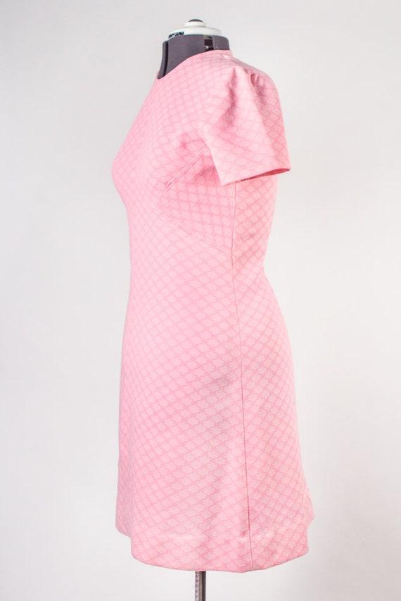 Bubblegum Pink Shift Dress - image 7