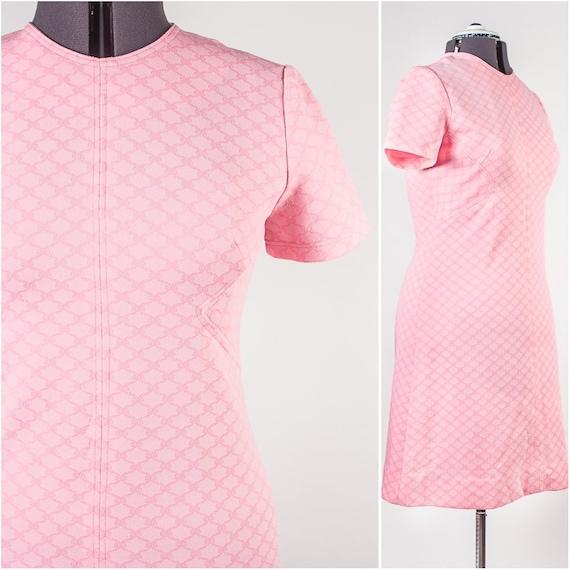Bubblegum Pink Shift Dress - image 1