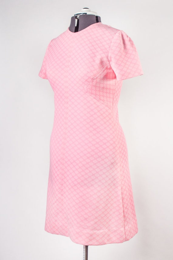 Bubblegum Pink Shift Dress - image 6