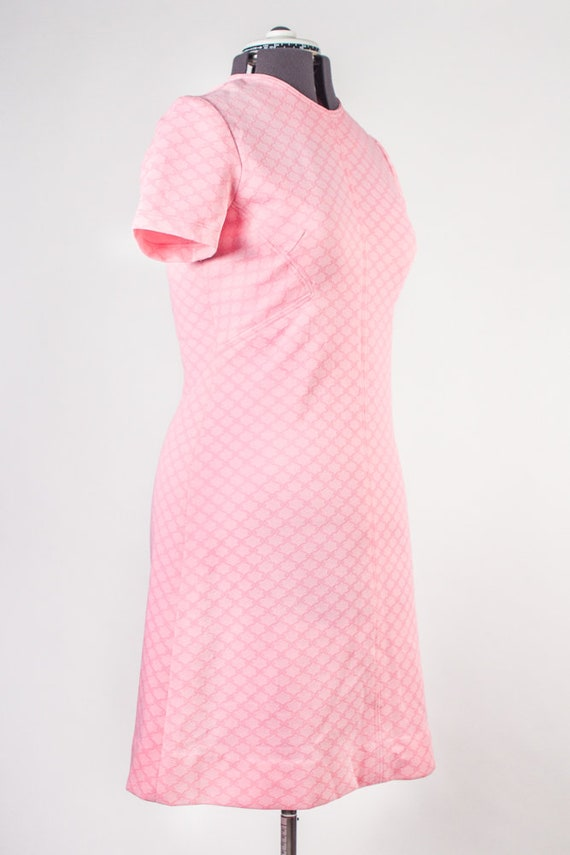 Bubblegum Pink Shift Dress - image 5