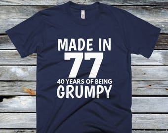 40th Birthday Gift Shirts - Made In 1977 T Shirt, 40th Birthday, Happy 40th Birthday T-shirt