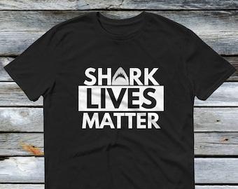 Shark Lives Matter T Shirt - Funny Shark Beach Shirts