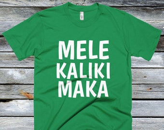 Fitted Mele Kalikimaka Shirt - Christmas in Hawaii Shirts - Hawaiian Christmas Shirts