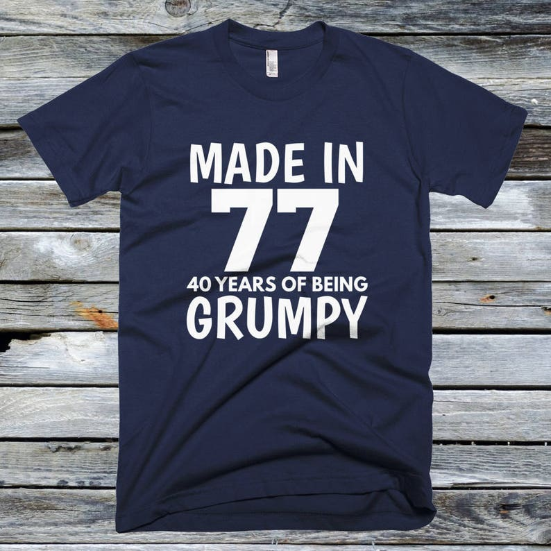 e94192309e180 40th Birthday Gift Shirts - Made In 1977 T Shirt, 40th Birthday, Happy 40th  Birthday T-shirt
