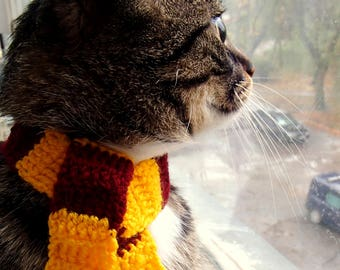 Scarf for cat Harry Potter inspired cat scarf Gryffindor cat scarf Harry Potter cat collar Slytherin cat scarf Ravenclaw cat scarf