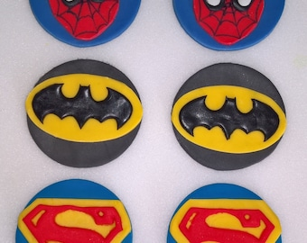 Hero Inspired Cupcake Toppers x 6