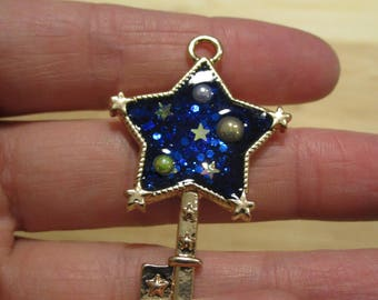 Blue Galaxy Star Pendant