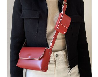 Mini Module Collection LUTI Bag  Cherry Red Leather